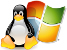 Linux and Windows Logo